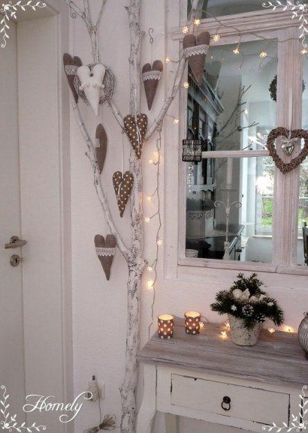 Schöne Weihnachtsdeko im Shabby Chic-Look. #diy #doityourself #rustoleum #makei