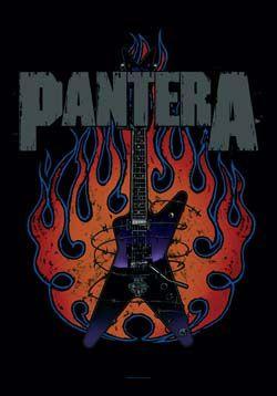 Pantera- Guitar Fabric Poster