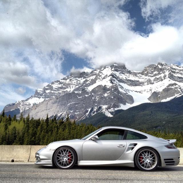 Porsche 997 Turbo, Alberta Canada -Rockies