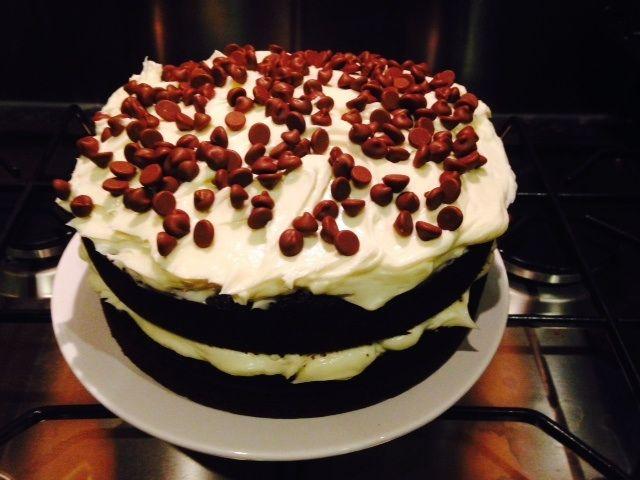 Baking amazingly chocolatey cakes!