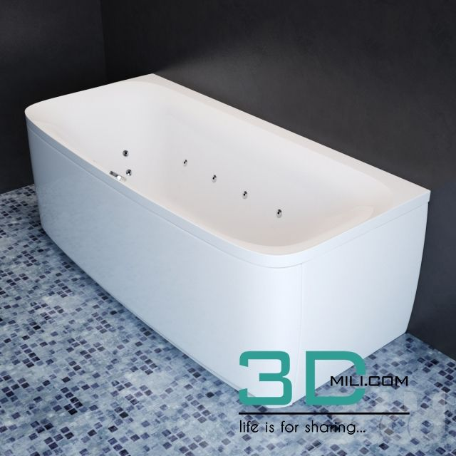 nice 12. Bathtub & Shower cubicle 3D model Download here: http://3dmili.com/room/bathroom/bathtub-shower-cubicle/12-bathtub-shower-cubicle-3d-model.html