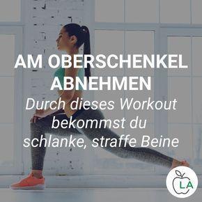 Am Oberschenkel abnehmen – Beine straffen durch effektive Übungen und Ernährung – Daniela Konrad