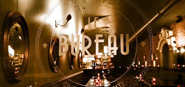 le bureau bar tapas restaurant tapas montr al griffintown places pinterest restaurant. Black Bedroom Furniture Sets. Home Design Ideas