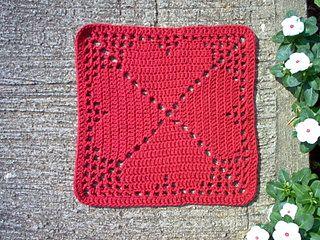 Granny's Heart Filet Motif - free pattern on Ravelry