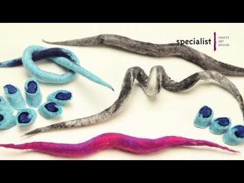 Technique Focus Felting - Making Felt Ropes - YouTube