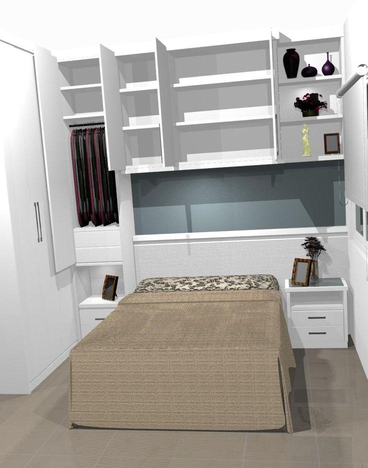 25 melhores ideias sobre cama embutida no pinterest - Armarios para habitaciones pequenas ...