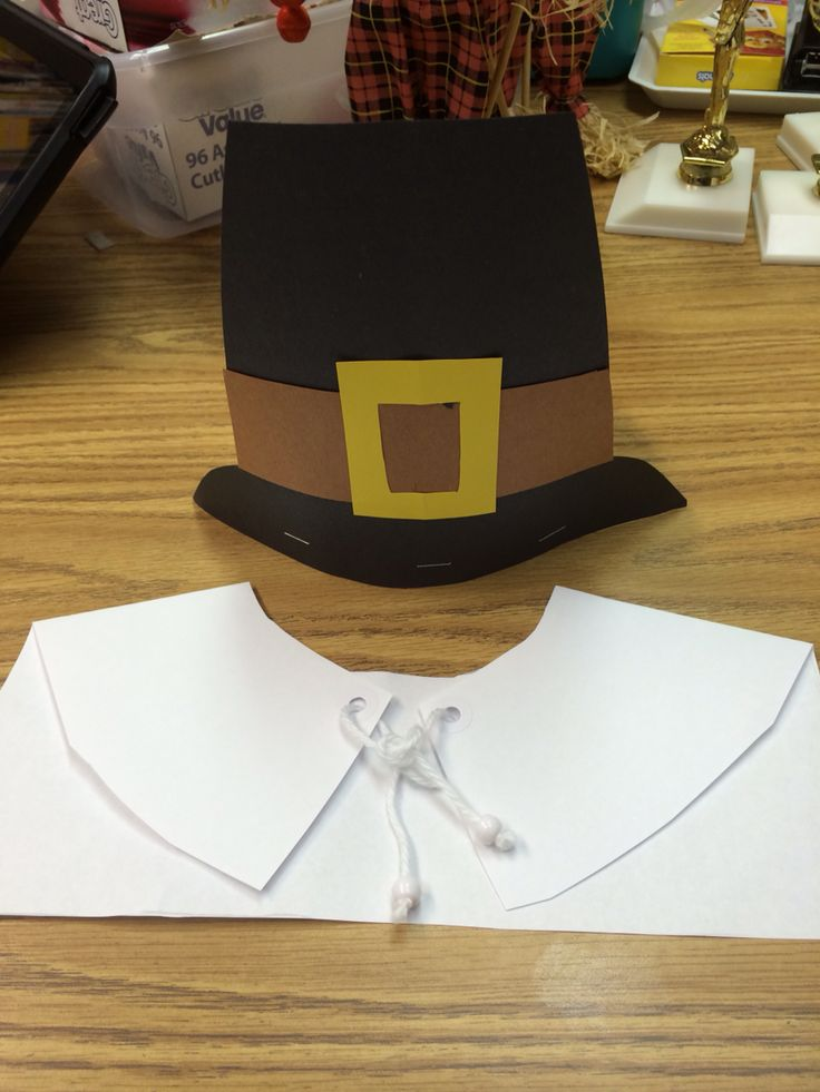 "Thanksgiving craft ""Pilgrim hat and collar"""