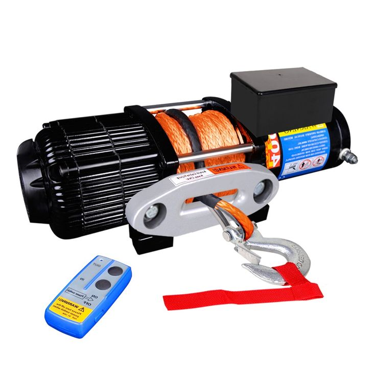 4000 lbs Electric Winch w/ Synthetic Rope & Remote