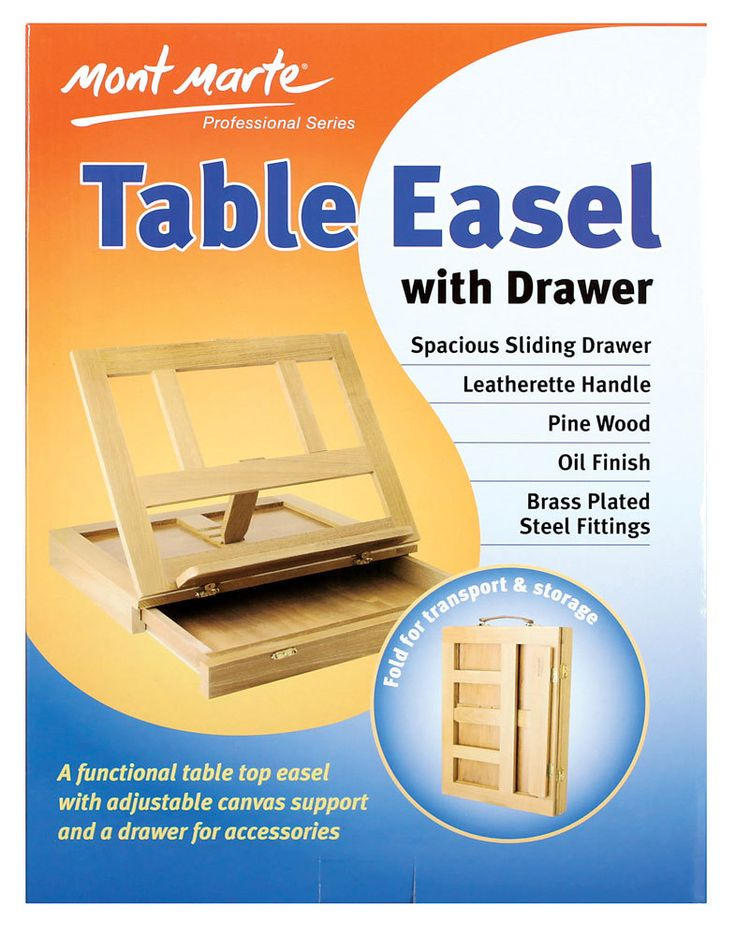 Art Shed Online - Mont Marte Table Easel w/Drawer - Pine, $14.95 (http://www.artshedonline.com.au/mont-marte-table-easel-w-drawer-pine/)