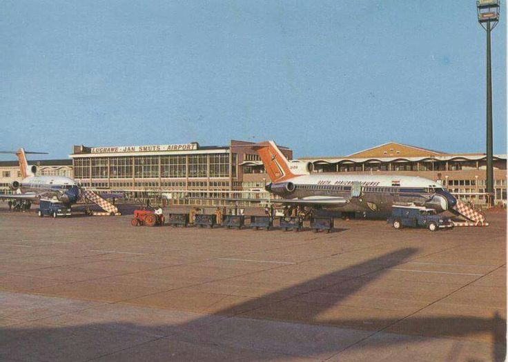 Old photo of Jan Smuts Airport