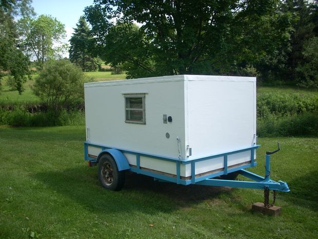 This is a sweet little DIY camper for around $700 in parts.  I'd make a few changes to the design, but really like the idea and cost.