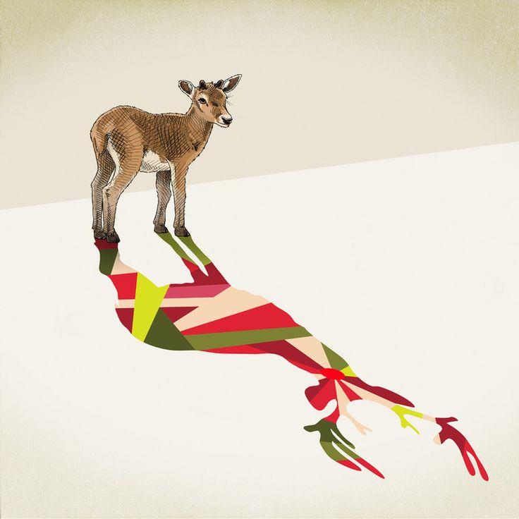 "Saatchi Online Artist: Jason Ratliff; Mixed Media, Installation ""Walking Shadow 9"""