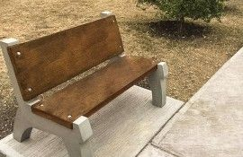 Concrete Bench Mold with Backrest System