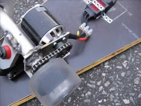 DIY electric skateboard 1 - YouTube