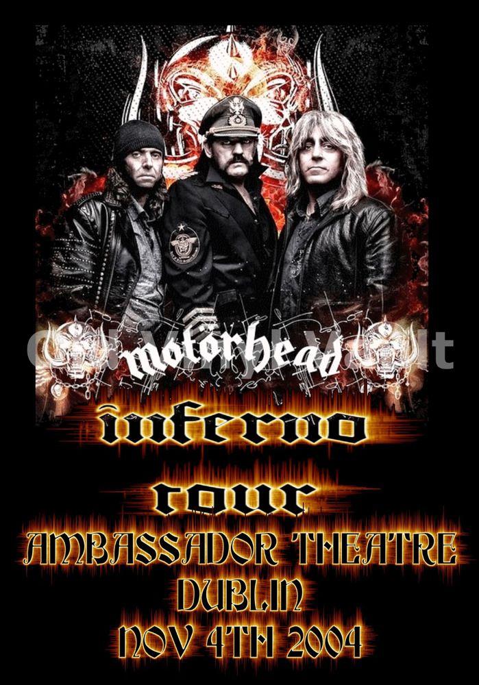 """Motorhead Concert Poster Ambassador Theatre Dublin 2004  A3 Reproduction """"NEW"""""""