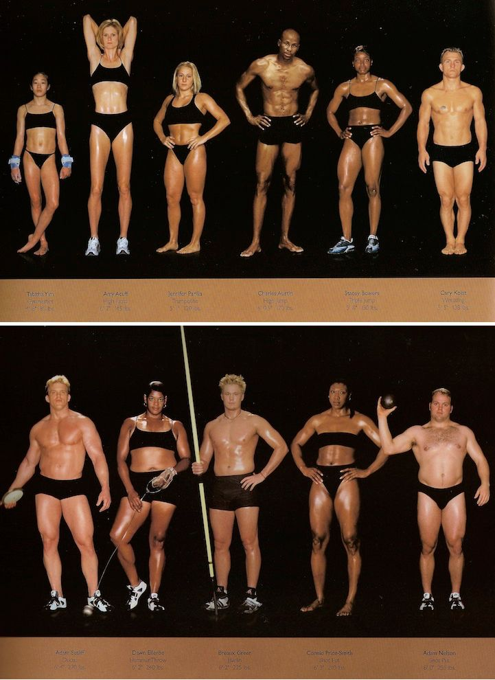 New York-based photographer Howard Schatz captures the diverse range of body types of Olympic athletes.