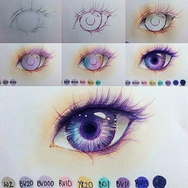 Hot Anime Helpful Eyes Coloring Tutorial Follow Dokuu For More Art Features Artist Minmonsta Post Your Art On Eye Art Marker Art Eye Drawing