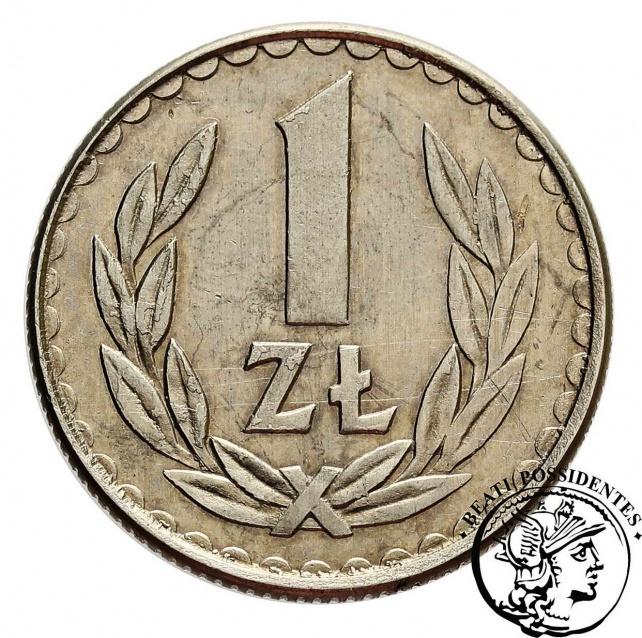 PRL 1 złoty 1984 PRÓBA miedzionikiel st. 2/2+ -RRR- - Polska po 1945