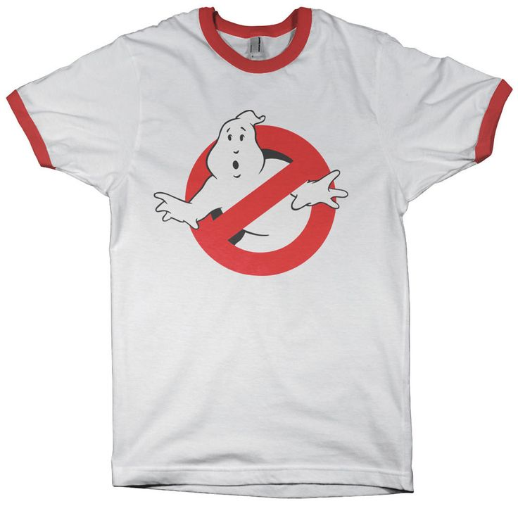 Ghostbusters 80s Logo T-Shirt Vintage Retro Style 80 s Ringer T Shirt