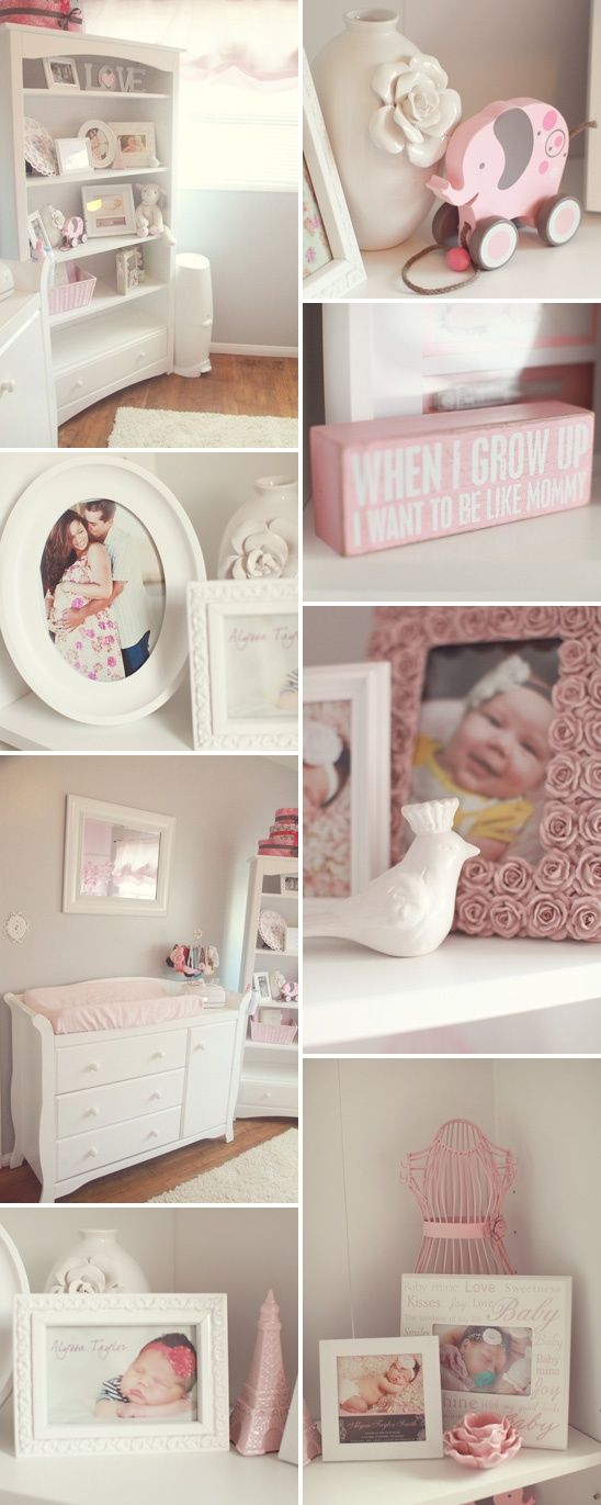 All the little accents are just adorable. Especially the pink rose photo | http://justforgagscollections.blogspot.com