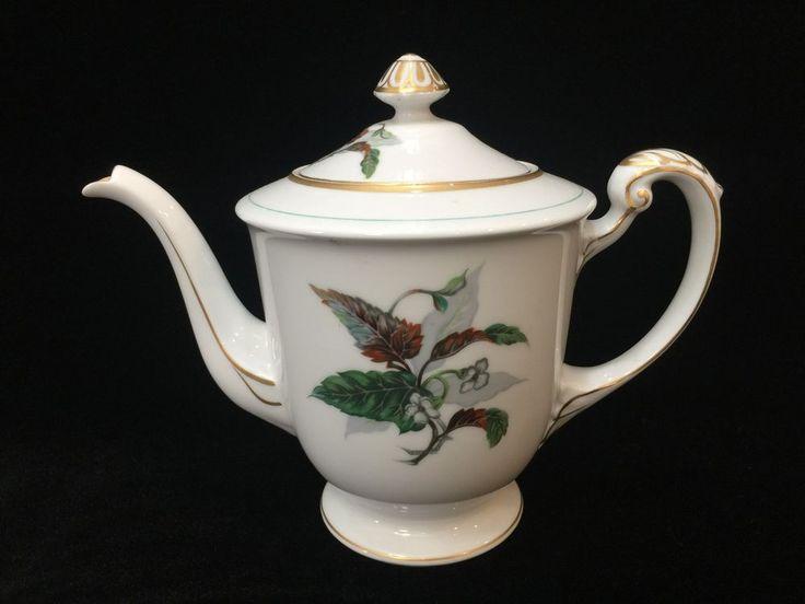 Vintage Imperial Craftsman Japan Porcelain China Begonia Flower Lidded Teapot #ImperialCraftsman