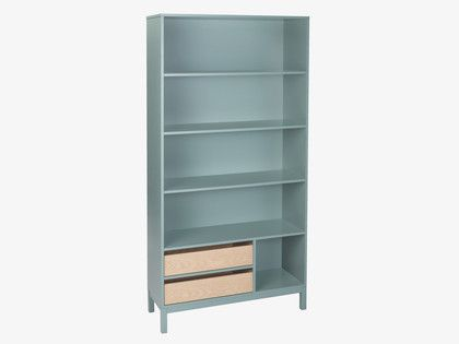 ELDER GREYS Wood Sage green tall bookcase - HabitatUK #outhabitat