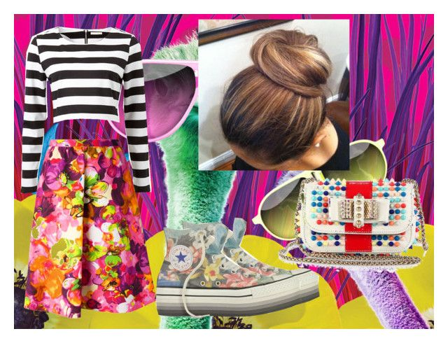 crazy girl by slytheriner on Polyvore featuring OPTIONS, Valentino, Converse and Christian Louboutin