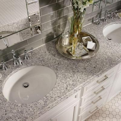 KraftMaid 4 in. x 4 in. Natural Quartz Vanity Top Sample in Shadow Swirl-FS44SSW.KM,HVKM,HVKM - The Home Depot