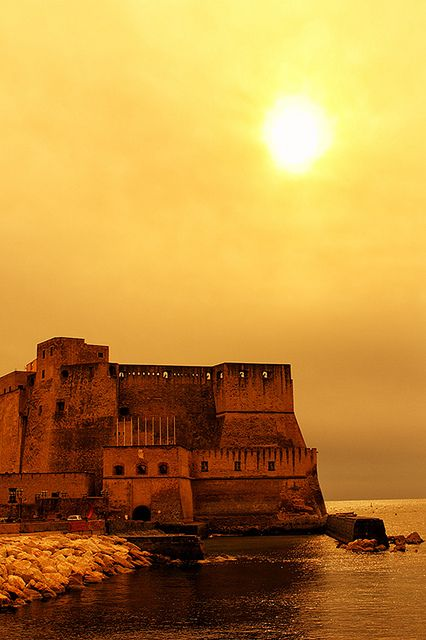 Castel dell'Ovo, solemn and magnificent, seems to float on the water! For a personalized tour of Naples www.discovernapolidestinations.com