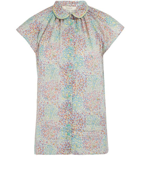Sessùn Blue Gould Liberty Print Blouse