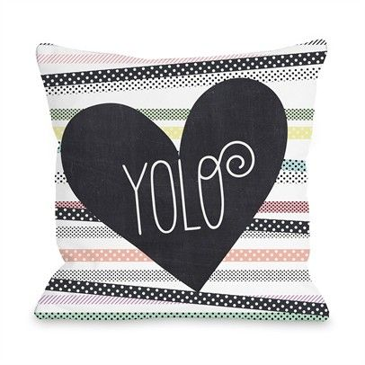 Yolo Ozsale White Multi 16x16 Pillow-73292PL16-White-Multi