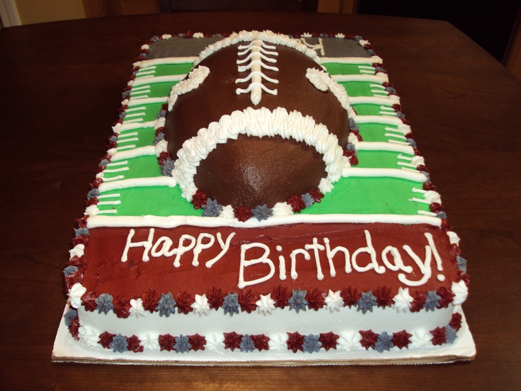Alabama Football Cake wrap cardboard in houndstooth. Add his name to the happy birthday end zone and make one end zone bama. Also put six on the football for his sixth birthday. :-) plus buying candy mold for cupcakes or suckers for favors