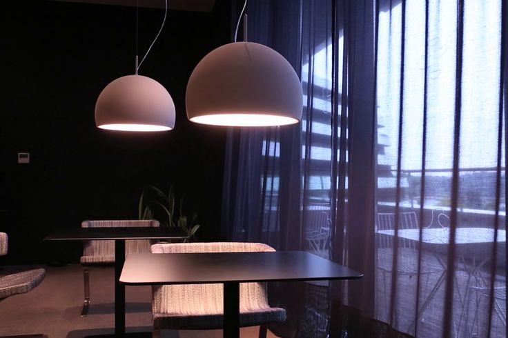 #Biluna suspension fixture, design by Luc Ramael for #Prandina, provides a soft and uniform light diffusion thanks to the spherical shape of its diffuser. #lighting #interiordesign #lightingdesign #interiors #architecture #pendantlamp