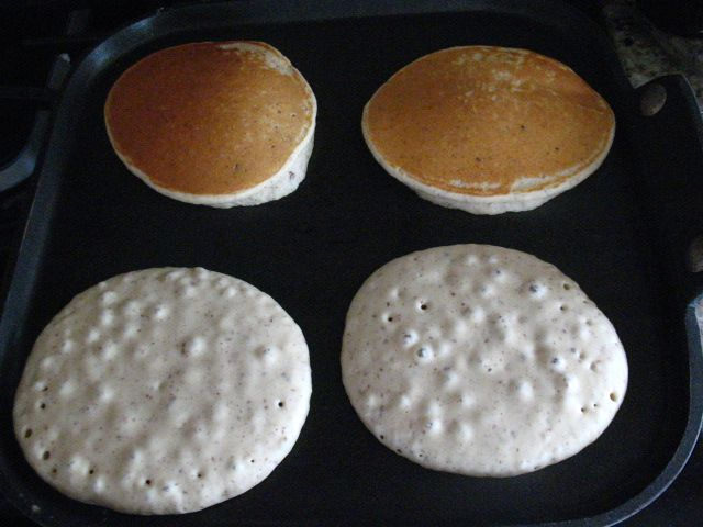 *Absolutely the best gluten free pancake recipe I have ever tried. *I have made these twice now and I followed the recipe almost exactly (didn't have stevia on hand) *I also discovered through my own airheadedness that if you forget to put in the coconut oil and cinnamon, the cakes will still cook up nice and fluffy (in a non-stick skillet) and you'll end up with a cake that's not quite as sweet and almost bread-like. * I made a double batch and froze for quick weekday breakfasts.