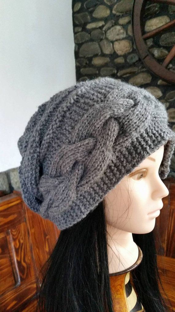 Check out this item in my Etsy shop https://www.etsy.com/listing/258984002/grey-oversized-beanie-women-winter