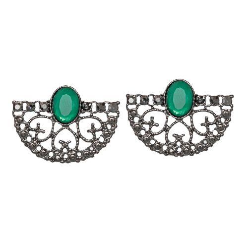 Nina Fiori, brinco, bijuteria, verde esmeralda