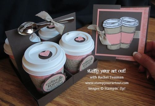 4-Pack of Mini Coffee Cups With Matching Card (Stamp Your Art Out!)