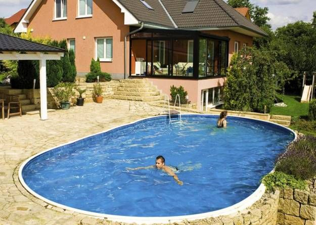 yard landscaping with pool, backyard ideas