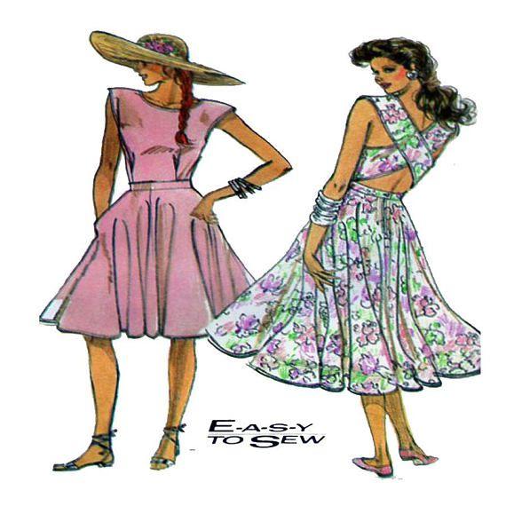 Simplicity 8618 Women Dress Sewing Pattern Sundress Cross