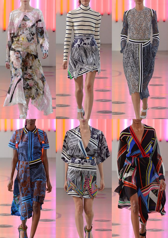 London Womenswear Print Highlights Part 1 – Spring/Summer 2015 catwalks  Preen By Thornton Bregazzi S/S 15