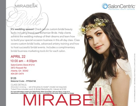 Join Me From 10 4 On April 22nd In Atlanta And Learn How To Grow Your Bridal Business With Mirabella Bride Makeup Class