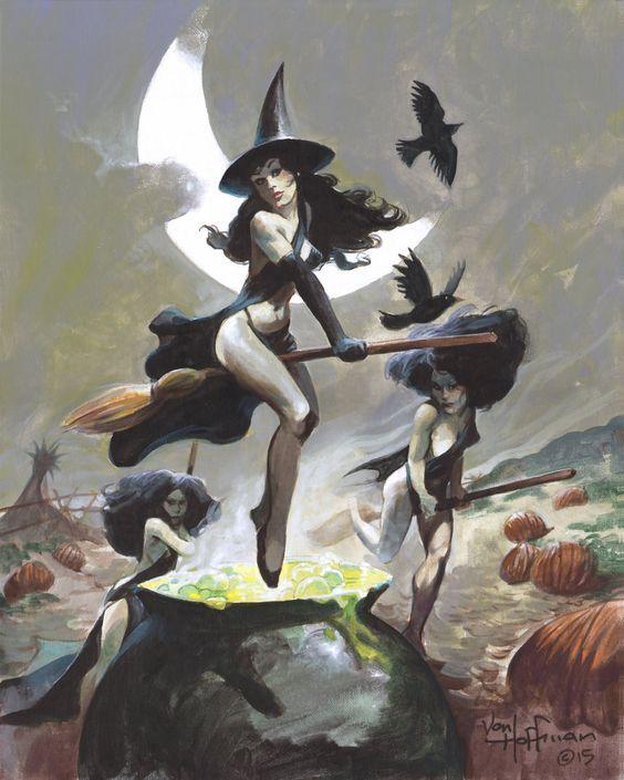 Картинки ведьмы на шабаше смешные