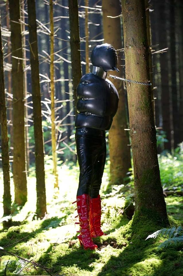 Rubber slave girl