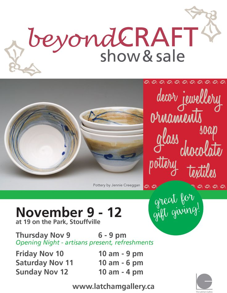 Beyond Craft  http://www.kynk.ca/events/2017/11/9/beyond-craft