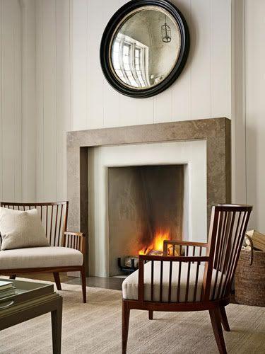 modern farmhouse idea. love the chairs