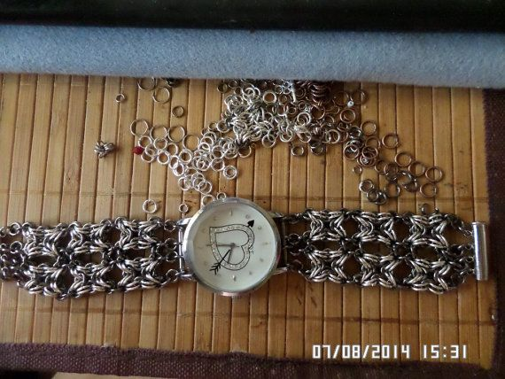 Chainmaille Watch Bracelet by tianadesign on Etsy, $100.00