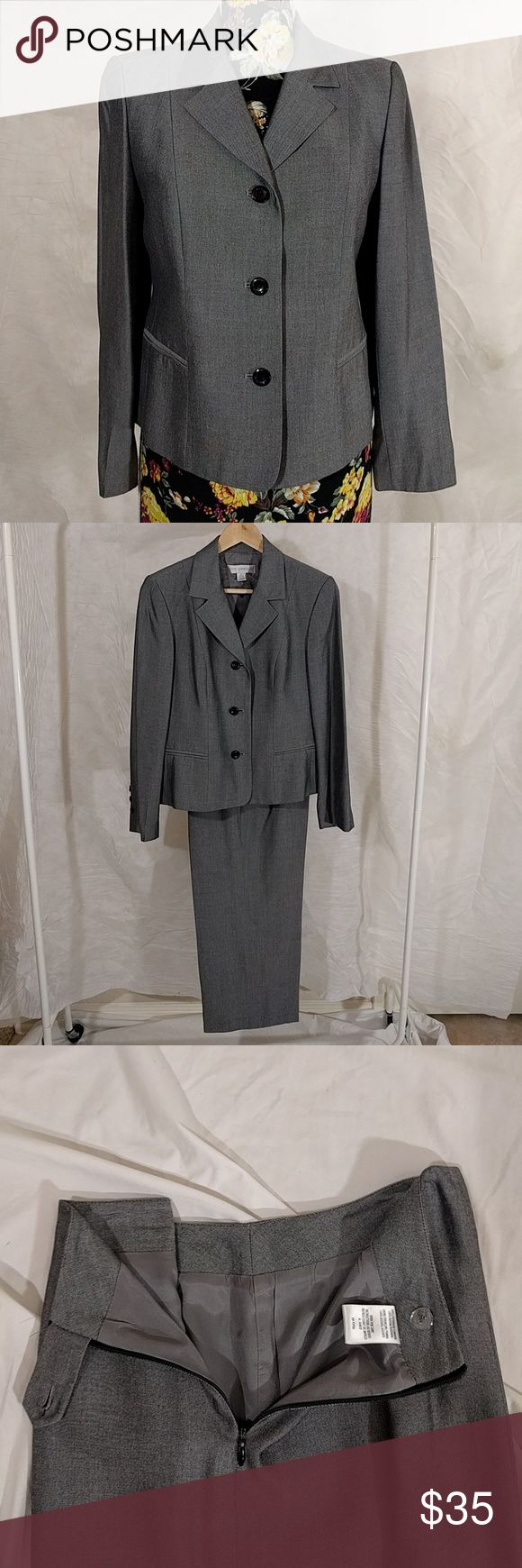 Two piece suit Silver metalic suit. Fully lined coat & pant. Side zip with button and clasp. Petite Sophisticate Jackets & Coats Blazers
