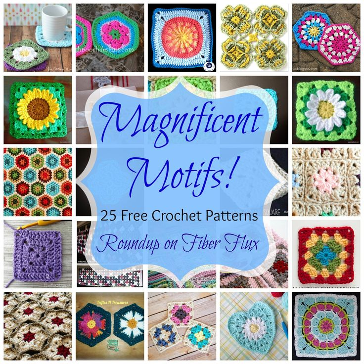 Magnificent Motifs! 25 Free Crochet Patterns - Fiber Flux...Adventures in Stitching