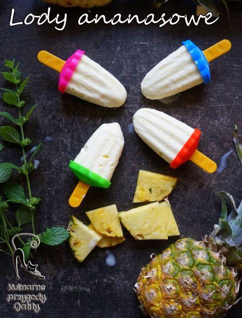 Kulinarne przygody Gatity: Domowe lody ananasowe bez jajek