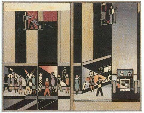Gerd Arntz, Schaufenster (Shop Windows), 1925